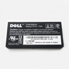 DELL POWEREDGE 1900, 1950, 2900, 2950, 2970, 6950, 840, R710, R805, R900, R905, T300, T605 BATTERY 7WHR 3.7V (NO CABLE) FOR PERC5I / PERC6I NEW DELL U8735, NU209, XJ547, P9110
