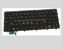DELL INSPIRON 7347 7348 KEYBOARD LATIN SPANISH LA BACKLIT NO FRAME / TECLADO RETROILUMINADO SIN RECUADRO REFURBISHED DELL T9JKT, NSK-LS0BW