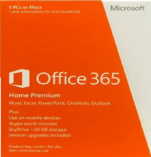 MICROSOFT OFFICE 365 HOME PREMIUM ESPAÑOL 1 USU 5 DISPOSITIVO NEW  6GQ-00790, 6440IUZ