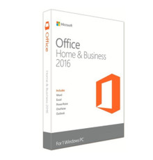 MICROSOFT OFFICE HOME AND BUSINESS 2016 ( DVD 32-BIT/X64 ) SPANISH MEXICO CAJA  NEW T5D-02713