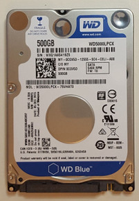 DELL LAPTOP ORIGINAL HARD DRIVE 500GB 5400 RPM 2.5IN 7MM / DISCO DURO NEW DELL   CGV5D, WX91A2610XS9