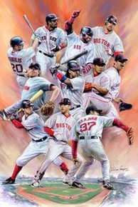 Boston Red Sox Art Print - Wishum Gregory