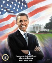President Barack Obama Art Print - Wishum Gregory