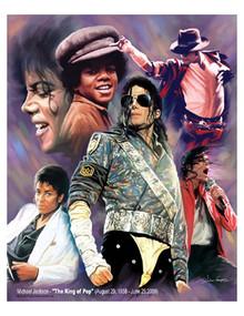 Michael Jackson - The King of Pop Art Print - Wishum Gregory