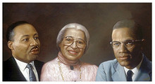 Martin, Rosa, and Malcolm Art Print - Andy H