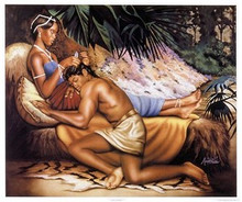 Samson and Delilah Art Print - Alan & Aaron Hicks