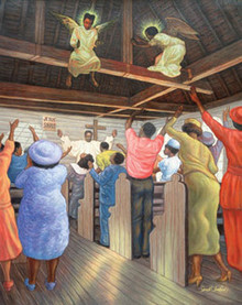 Angels in the Rafters (20 x 16in) Art Print - Sarah Jenkins
