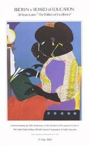 The Lamp (30th Ann. of Brown vs. Board of Education) Art Print Romare Bearden