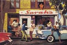 Sarah's Bar BQ (16 x 20in) Art Print - Sarah Jenkins