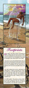 Footprints (Male Story 36 x 12) Art Print - Lester Kern