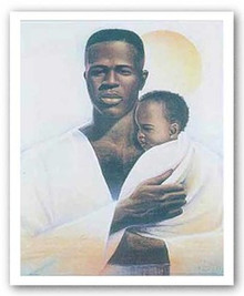 Father and Child Art Print - Keith Mallett