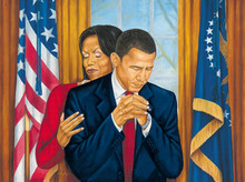Putting God First - Barack Obama Art Print - Johnny Myers