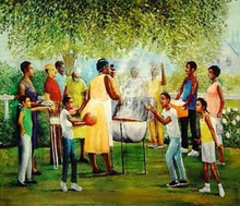 Family Reunion Art Print - Lavarne Ross