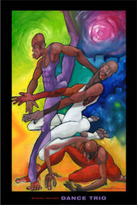 Dance Trio Art Print - Michael Wallace