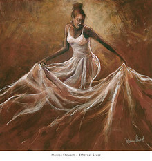 Ethereal Grace Art Print - Monica Stewart