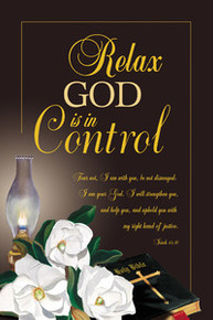 Relax, God Is In Control Art Print Hermon Woodhall