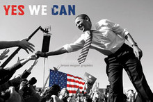 Barack Obama - Yes We Can (crowd) (24 x 36in) Art Print