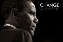 Barack Obama: Change Can Happen Art Print