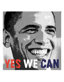 Barack Obama - Yes We Can Photo (10 x 10in) Art Print