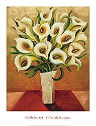 Calla Lily Bouquet Art Print