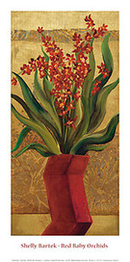 Red Baby Orchids Art Print