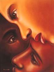 BLACK IS BLACK (Female) Art Print - Larry Poncho Brown