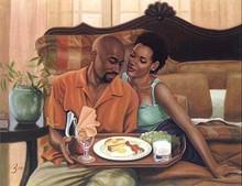 Breakfast in Bed Art Print - Henry Lee Battle