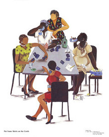 Put Some Skirts on the Cards Art Print