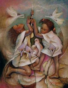 Ringbell Heaven Art Print (18 x 14in) - Essud Fungcap
