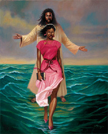 He Walks with Me Art Print (11 x 14in) - Sterling Brown