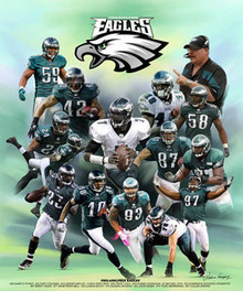 Philadelphia Eagles Art Print - Wishum Gregory