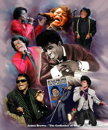 James Brown Art Print  - Wishum Gregory