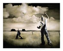 Two Men in a Field Art Print - Edwin Lester