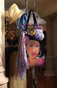 Pink Lady Tapestry Tote Bag