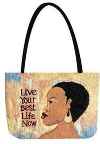Live Your Best Life Tapestry Tote Bag
