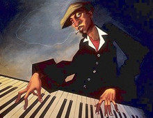 Piano Man II Art Print - Justin Bua