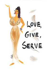 Love, Give, Serve Magnet - Cidne Wallace