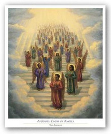 Gospel Choir of Angels  Art Print - Tim Ashkar