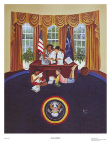 The Oval Office (Barack Obama) Art Print