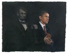Inspiration (Barack Obama & Abraham Lincoln) Art Print - Consuelo Gamboa