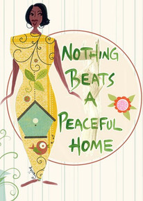 Nothing Beats A Peaceful Home Magnet - Cidne Wallace