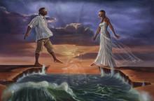 Step Out On Faith-Love (18 x 12) Art Print - Kevin A. Williams - WAK