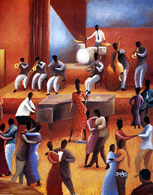 The Jazz Singer Art Print - Jason Delancey