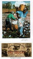 Color of Money - Slave Carrying Cotton: Louisiana Art Print - John Jones
