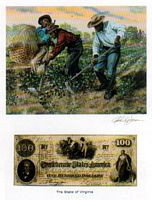 Color of Money - Slave Hoeing Cotton: Virginia Art Print - John Jones