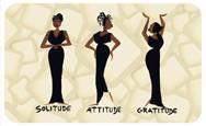 Solitude, Attitude, Gratitude African American Floor Mat--Cidne Wallace