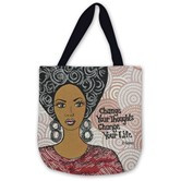 Change Your Thoughts Woven Tote Bag