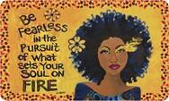 Soul on Fire African American Floor Mat--GBaby