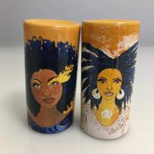"Soul/NubiaSalt & Pepper Shakers--Sylvia ""GBaby"" Cohen,"