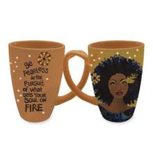 "Soul On Fire Sylvia ""GBaby"" Cohen, Mugs, Latte Mugs"